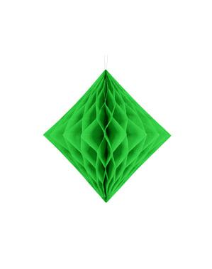 Kennopaperista tehty roikkuva koriste vihreänä 30cm