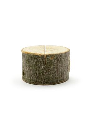 6 дървени поставки за картички с имена– Rustic Wedding