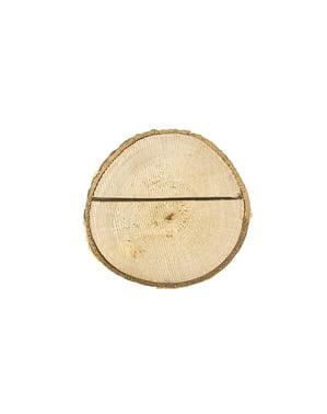 Set 6 dřevěných držáků na vizitky - Rustic Wedding