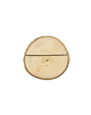 6 houten zitplaats kaarthouders - Rustieke Bruiloft