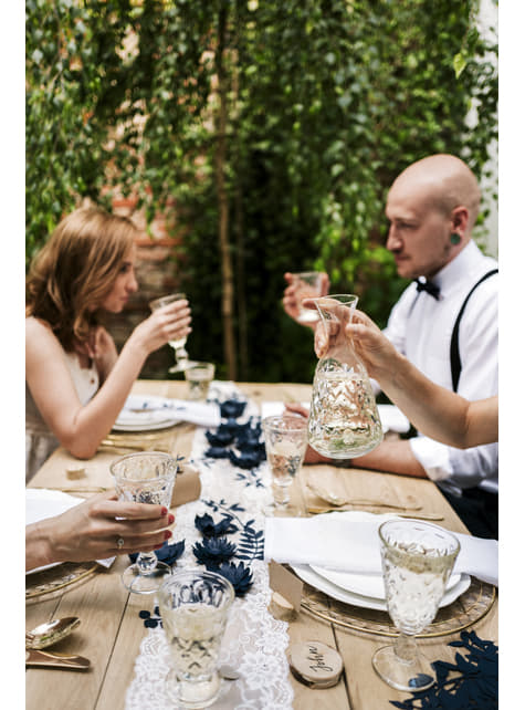 6 porte-nom rondin de bois - Rustic Wedding