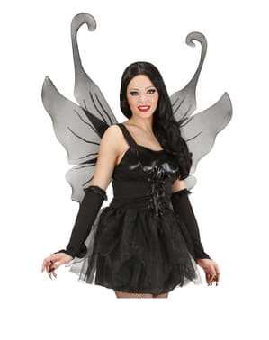 Maxi aripi negre cu sclipici pentru femeie