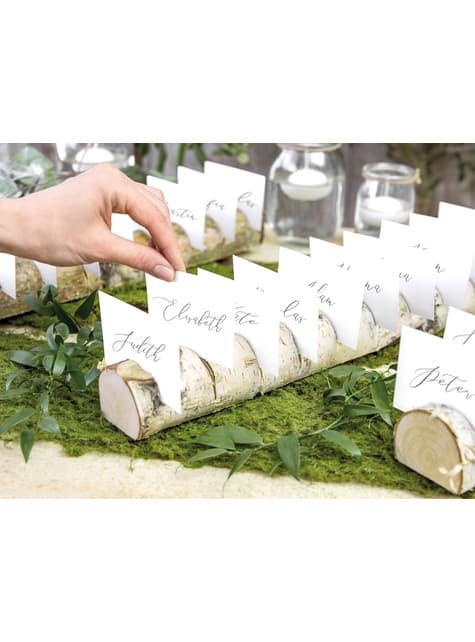 Tarjeteros de lugar para 10 personas - Rustic Wedding - barato