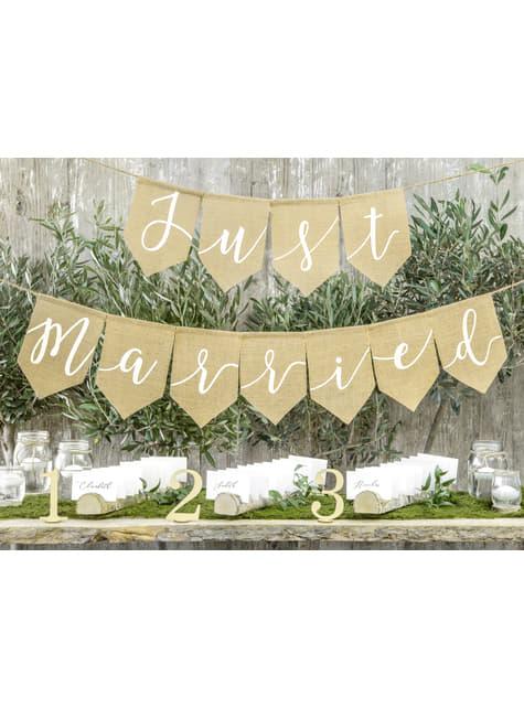 10 nimikentällä varustettua nimikortinpidikettä - Rustic Wedding