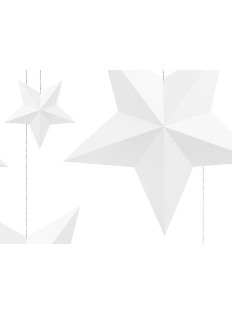 6 estrellas colgantes variadas blancas - Christmas - para tus fiestas