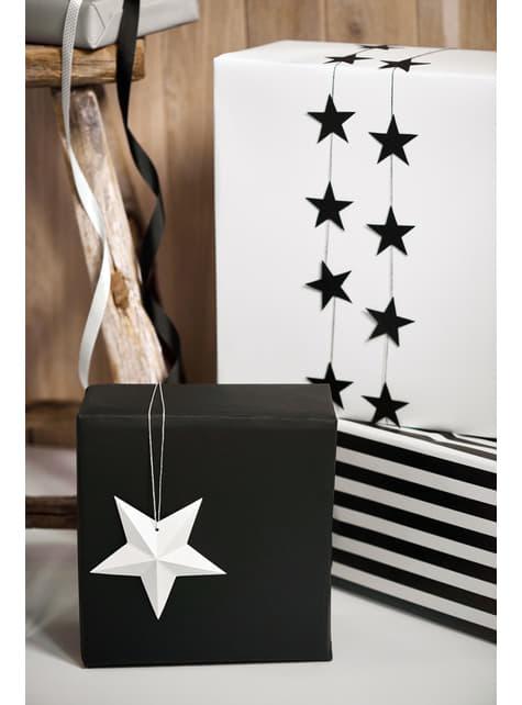 6 estrellas colgantes variadas blancas - Christmas - original