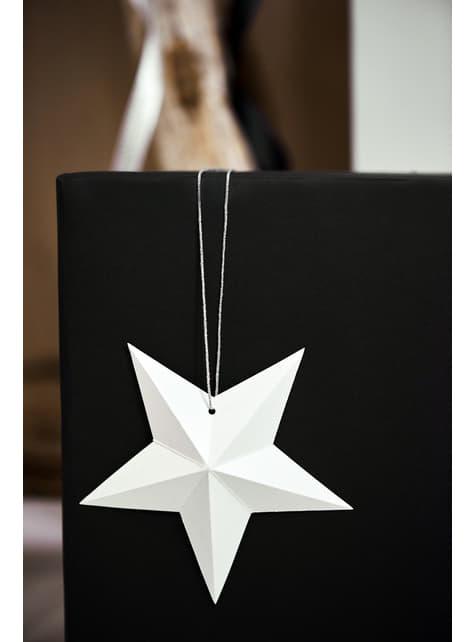 6 estrellas colgantes variadas blancas - Christmas - para decorar todo durante tu fiesta