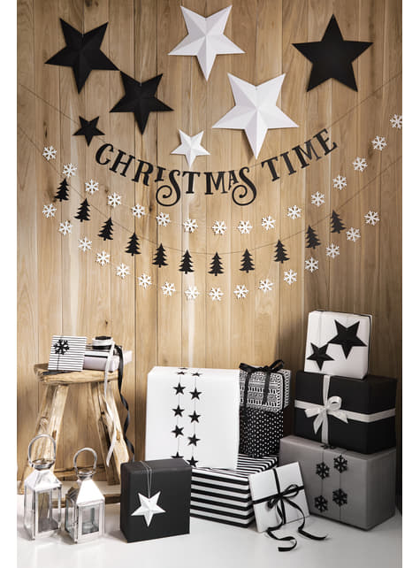 6 estrellas colgantes variadas blancas - Christmas - el más divertido