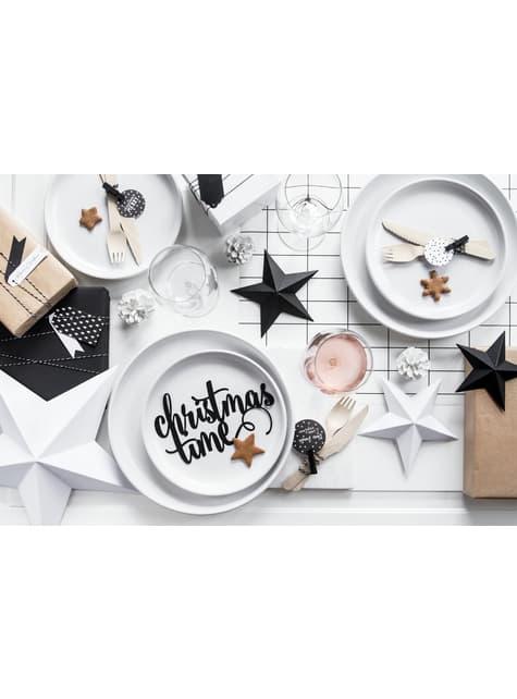 6 estrellas colgantes variadas negras - Christmas - para decorar todo durante tu fiesta
