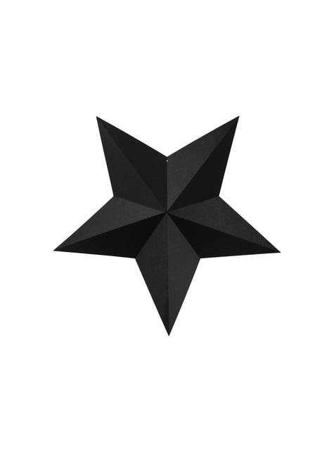 6 estrellas colgantes variadas negras - Christmas - para tus fiestas