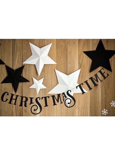 6 estrellas colgantes variadas negras - Christmas - para niños y adultos