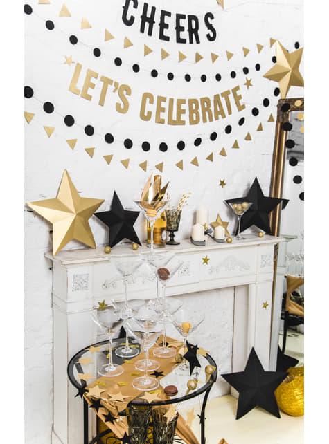 6 estrellas colgantes variadas doradas - Christmas - original