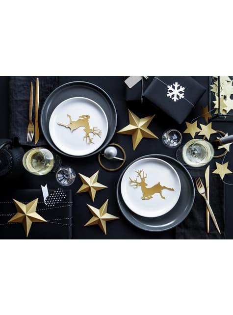 6 estrellas colgantes variadas doradas - Christmas - el más divertido