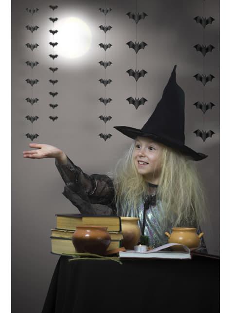 5 guirnaldas colgantes con murciélagos negros de papel - Halloween - comprar