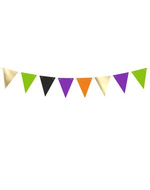 Bandeirola de papel multicolorido