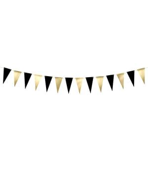 Bandeirola dourada e papel preto