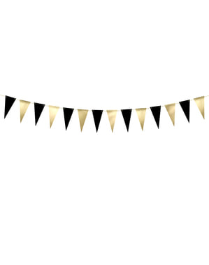 Sort og Guld Papir Flagdug