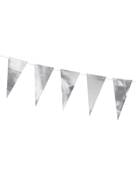 Banderín plateado efecto espejo