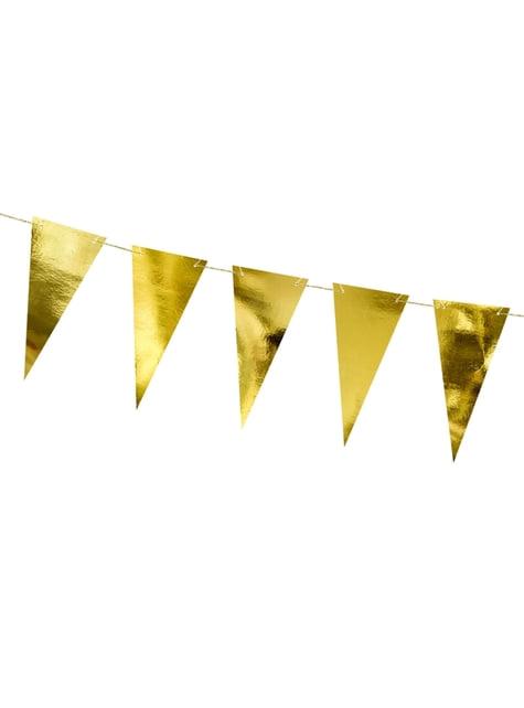 Banderín dorado efecto espejo