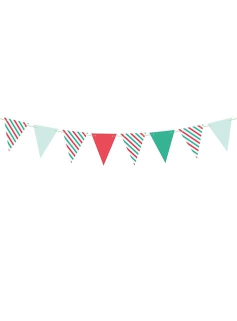 Guirlande fanions motifs variés noël en papier - Merry Xmas Collection