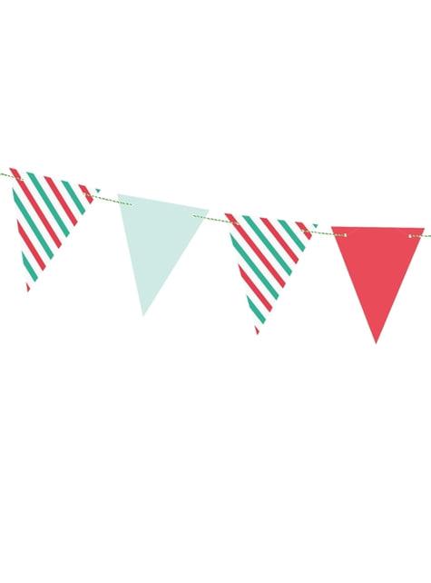 Banderín estampado variado navideño de papel - Merry Xmas Collection