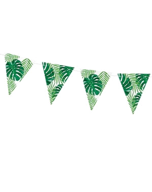 Green Leaves Paper Bunting - Aloha