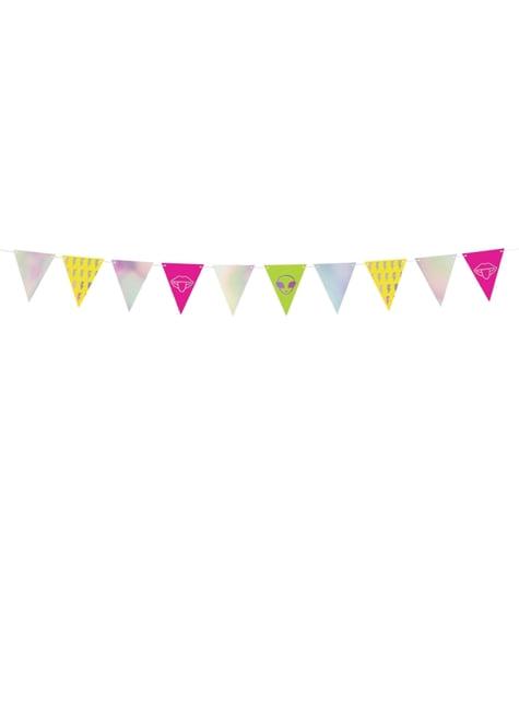 Banderín estampado variado multicolor iridiscente - Electric Holo