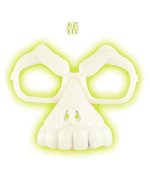 Okulary czaszka fluorescensyjne unisex