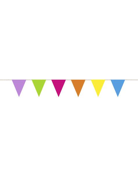 Banderín multicolor de papel - Colorful & holographic birthday