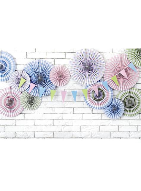 Banderín multicolor de papel - Pastelove