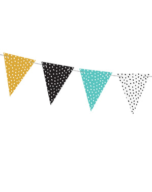 Multicolor Dots Paper Bunting - Dinosaur Party