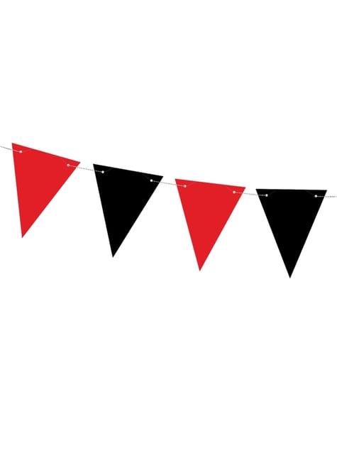 Červená & černá papírová vlajková výzdoba - Pirates Party