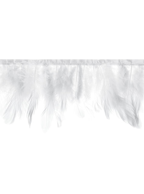 White feathers garland - First Communion