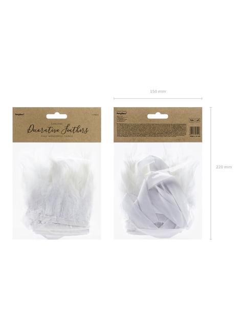 Guirnalda de plumas blancas - First Communion - barato