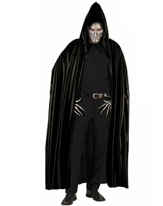 black cape with hood for adults