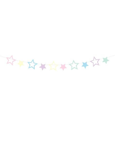 Guirnalda de estrellas multicolores - Unicorn Collection
