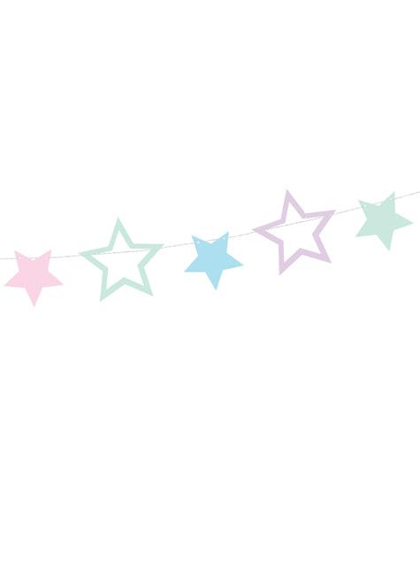 Guirnalda de estrellas multicolores - Unicorn Collection - para tus fiestas