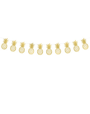 Papir guirlande med guld ananas - Aloha Collection