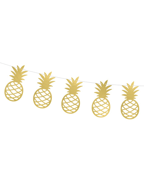 Guirlande ananas dorés en papier - Aloha Collection