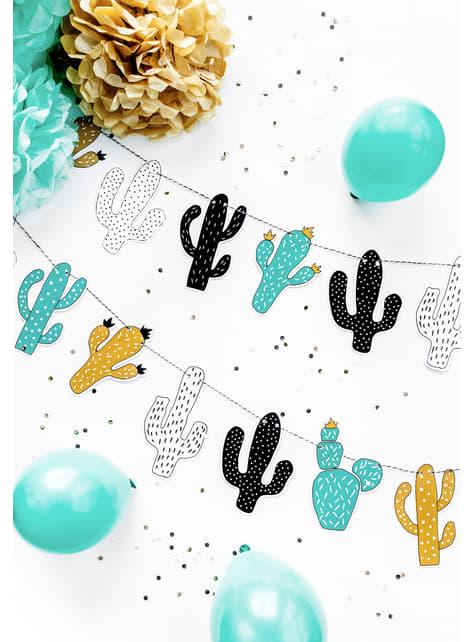 Guirnalda de cactus multicolor de papel - Dinosaur Party - barato