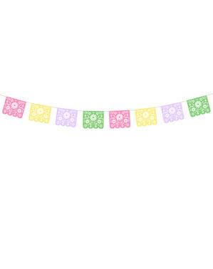 Meksikansk Papir Girlander - Dia de Los Muertos Collection