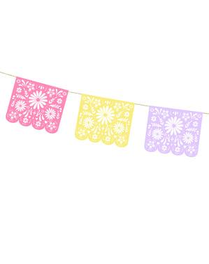 Mexická papírová girlanda - Dia de Los Muertos Collection