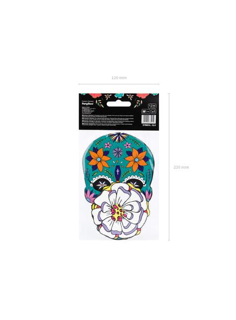 Guirnalda de calaveras y flores multicolor - Dia de Los Muertos Collection - para decorar todo durante tu fiesta