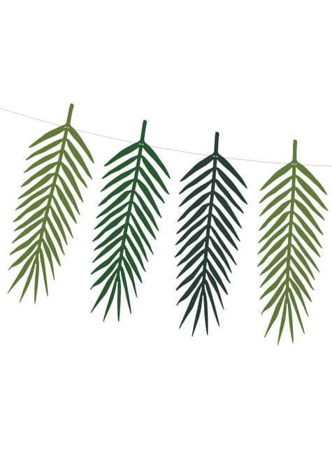 Guirnalda de hojas verdes - Tropical Wedding