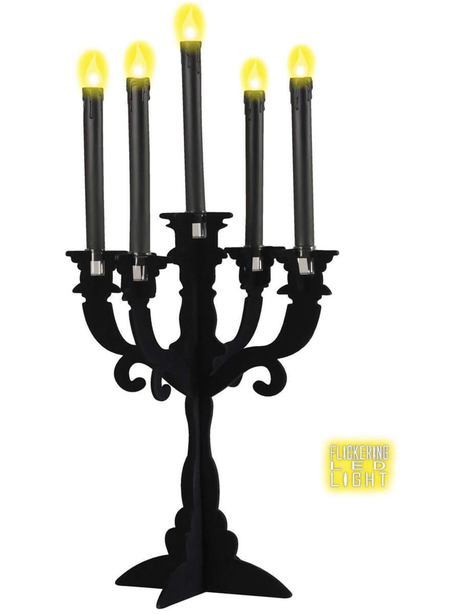 schwarze kerzen mit led licht lieferung 24h funidelia. Black Bedroom Furniture Sets. Home Design Ideas