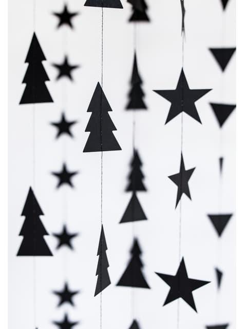 2 guirnaldas verticales árboles de Navidad - Christmas - para decorar todo durante tu fiesta