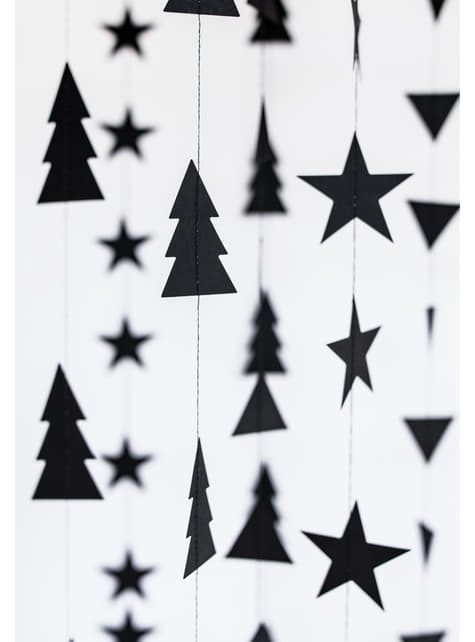 2 Christmas Tree String Garlands - Christmas