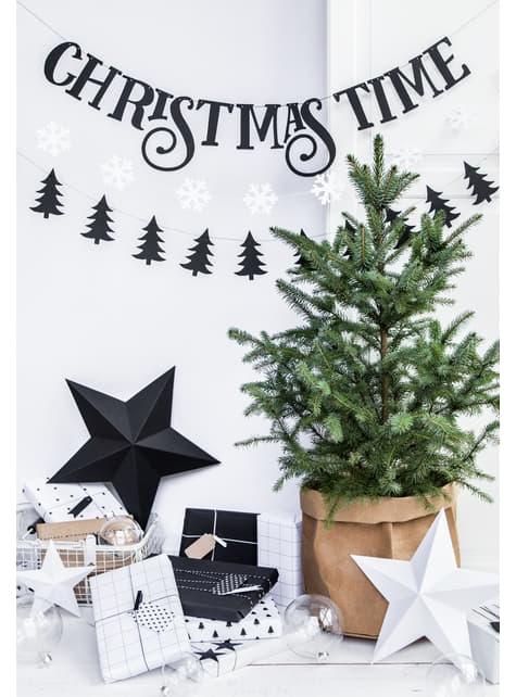 2 guirlandes flocons de neige blanc - Christmas