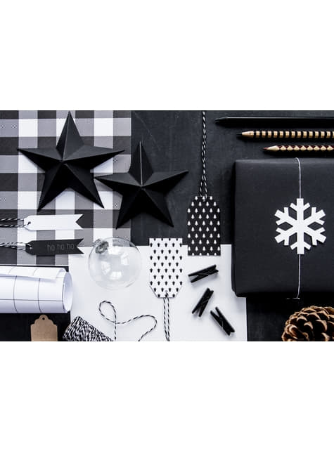 2 White Snowflake Garlands - Christmas
