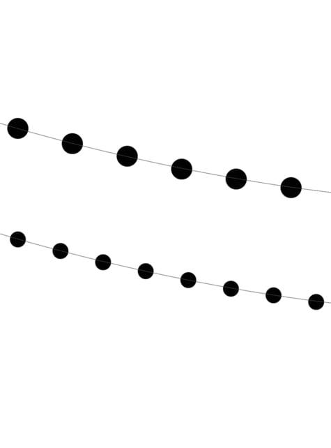 2 guirlandes avec cercles noirs